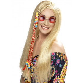 Blond hippie paryk