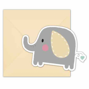 baby elefant invitationer