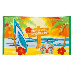 Beach Party Stofbanner, 150 x 90 cm