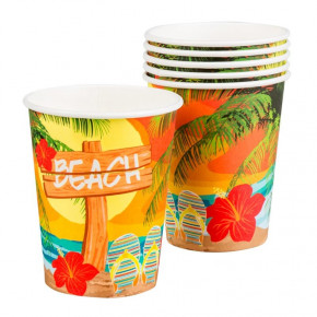 6 stk. Beach Party Papkrus 25 cl