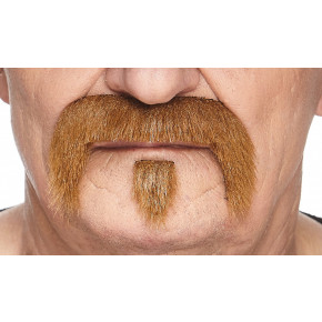 Biker Moustache Kit, Brunt