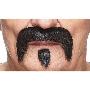 Biker Moustache Kit, Sort