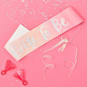 """Pink Polterabend Sash - """"Bride To Be"""""""
