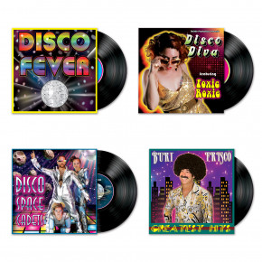 Disco Fever LP Albums, 70'er Cutout Figurer