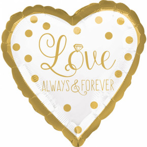 Folie Ballon - Love Always and Forever Guld