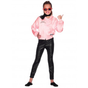 Grease Kostume: Pink Ladies jakke barn