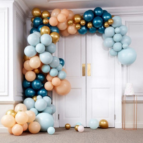 Luxe Teal & Guld Chrome Large Ballonbue Kit