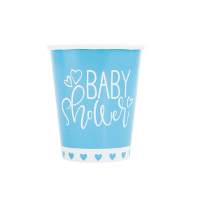 "Pap Kopper 270ml ""It's a Boy"" Babyshower, 8 stk."