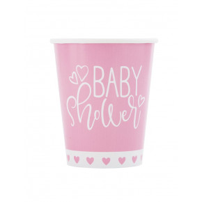 "Pap Kopper 270ml ""It's a Girl"" Babyshower, 8 stk"