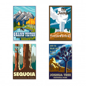Travel America - National Park Plakater