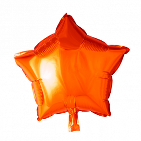 orange stjerne folie ballon