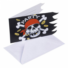 Jolly Roger pirat invitationer