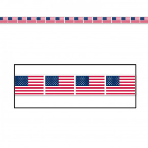 Party tape med amerikanske flag