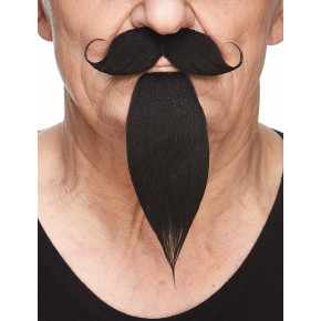 Pirat Moustache Kit, Sort