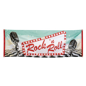 1950'er Dekoration - Rock'n'Roll Banner