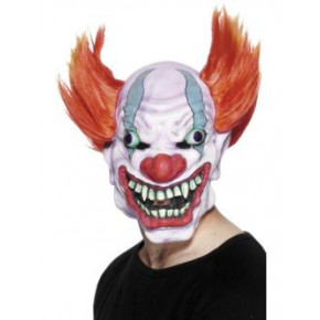 Clown mask med hår