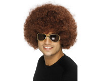 70s Funky Afro brun